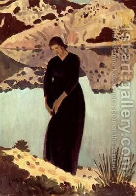 Lyndra at the Pool by Derwent Lees - Reproduction Oil Painting
