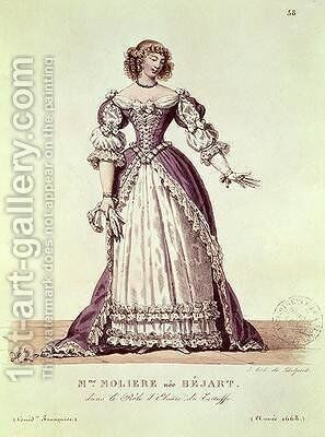 Madame Moliere nee Armande Bejart 1642-1700 in the role of Elmire in Le Tartuffe by Moliere 1622-73 by Hippolyte Lecomte - Reproduction Oil Painting