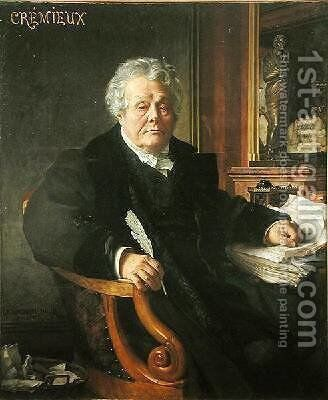 Adolphe Cremieux 1842-1923 by Jean Jules Antoine Lecomte du Nouy - Reproduction Oil Painting