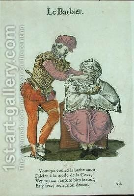 The Barber by Jean Achille Leclerc - Reproduction Oil Painting