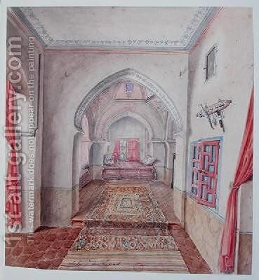 A Moorish Interior 2 by Theodore Leblanc - Reproduction Oil Painting