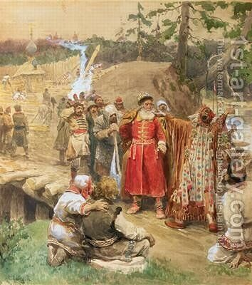 The Conquest of the New Regions in Russia by Klavdiy Vasilievich Lebedev - Reproduction Oil Painting
