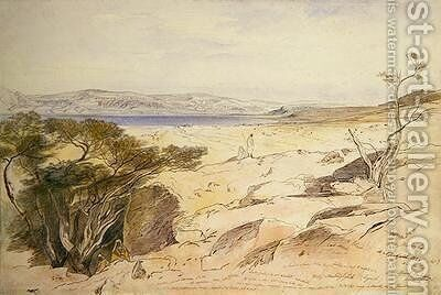 The Dead Sea by Edward Lear - Reproduction Oil Painting