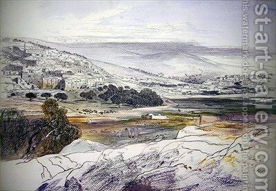 Hebron by Edward Lear - Reproduction Oil Painting