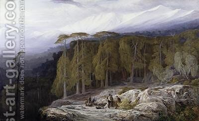 The Forest of Valdoniello Corsica by Edward Lear - Reproduction Oil Painting