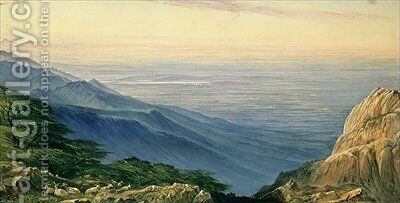 The Plain of Lombardy from Monte Generoso by Edward Lear - Reproduction Oil Painting