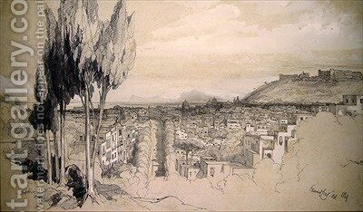 Naples by Edward Lear - Reproduction Oil Painting
