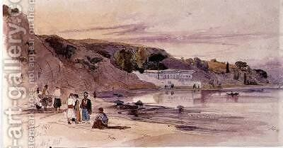 On Foreign Shores by Edward Lear - Reproduction Oil Painting