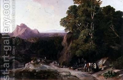 Citizens of Subiaco by Edward Lear - Reproduction Oil Painting