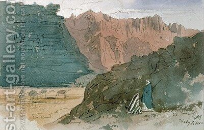Wady Sidera by Edward Lear - Reproduction Oil Painting