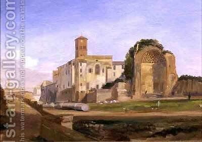 The Temple of Venus and Rome by Edward Lear - Reproduction Oil Painting