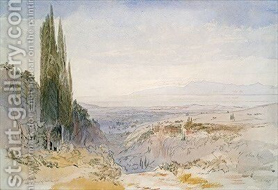 Corfu Nimphes by Edward Lear - Reproduction Oil Painting