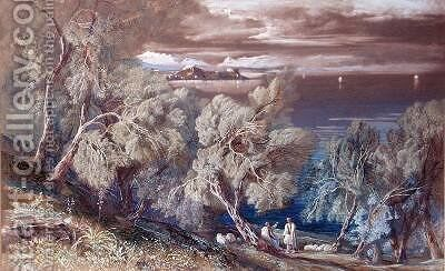 Corfu from the Village of Ascension by Edward Lear - Reproduction Oil Painting