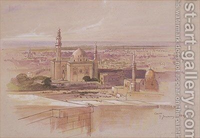 Agra Mosque Cairo by Edward Lear - Reproduction Oil Painting