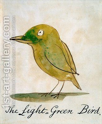 The Light Green Bird by Edward Lear - Reproduction Oil Painting