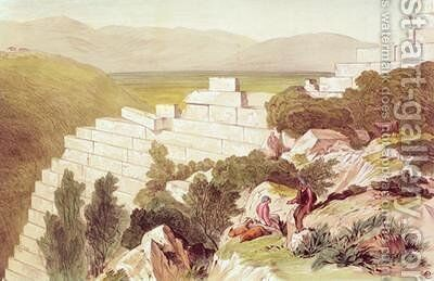Walls of Ancient Samos Cephalonia by Edward Lear - Reproduction Oil Painting