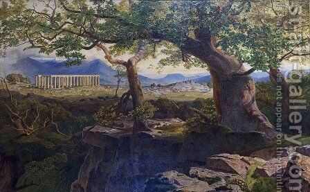 The Temple of Apollo Bassae by Edward Lear - Reproduction Oil Painting