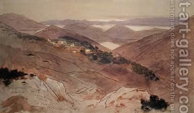 Village of Katochori by Edward Lear - Reproduction Oil Painting