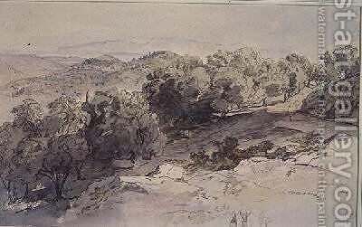 Choripiskopi Greece by Edward Lear - Reproduction Oil Painting