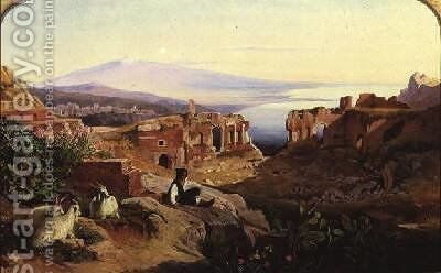 Taormina by Edward Lear - Reproduction Oil Painting
