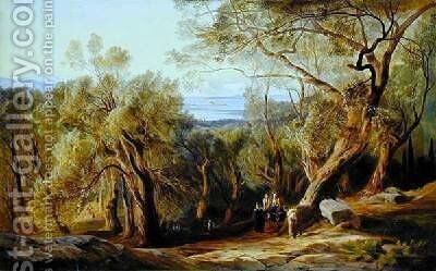 Corfu from Santa Decca by Edward Lear - Reproduction Oil Painting