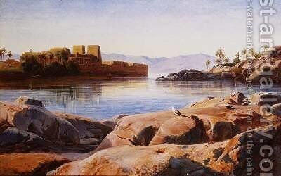 Philae on the Nile by Edward Lear - Reproduction Oil Painting