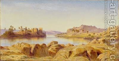 Philae Egypt by Edward Lear - Reproduction Oil Painting