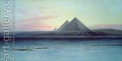 The Pyramids of Giza by Edward Lear - Reproduction Oil Painting