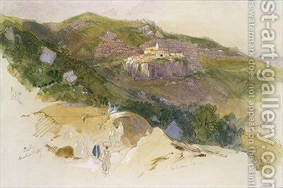 Staiti Sicily by Edward Lear - Reproduction Oil Painting