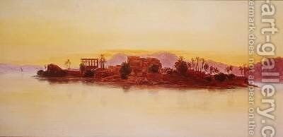 Sunset by Edward Lear - Reproduction Oil Painting