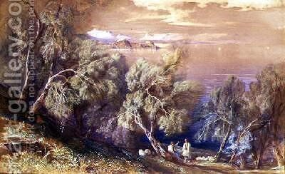 Corfu from above the Village of Analipsis by Edward Lear - Reproduction Oil Painting