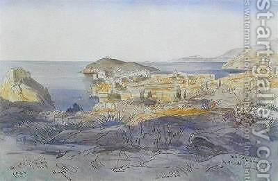 Ragusa Dubrovnik by Edward Lear - Reproduction Oil Painting