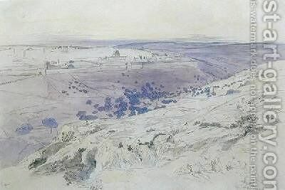 Jerusalem by Edward Lear - Reproduction Oil Painting