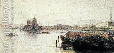 The Church of Santa Maria della Salute Venice by Edward Lear - Reproduction Oil Painting