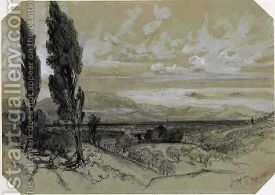 Genezzano by Edward Lear - Reproduction Oil Painting