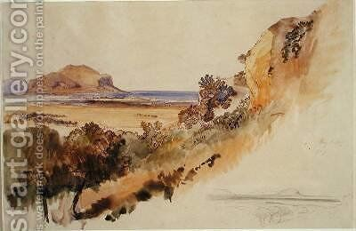 View near Palermo by Edward Lear - Reproduction Oil Painting