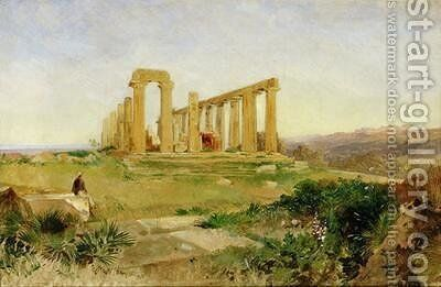 Temple of Agrigento by Edward Lear - Reproduction Oil Painting