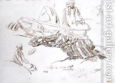 Study of a Bedouin by Edward Lear - Reproduction Oil Painting