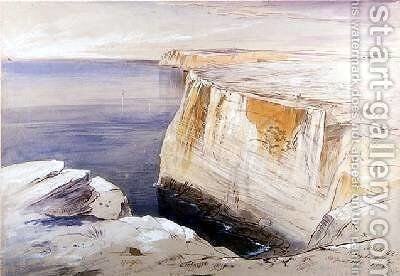 Malta Near St Angelo Hal Far by Edward Lear - Reproduction Oil Painting