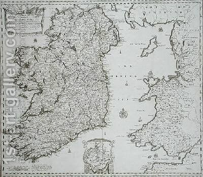 An Epitome of Sir William Pettys Large Survey of Ireland by (after) Lea, Philip - Reproduction Oil Painting