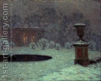 The Trianon Under Snow by Henri Eugene Augustin Le Sidaner - Reproduction Oil Painting