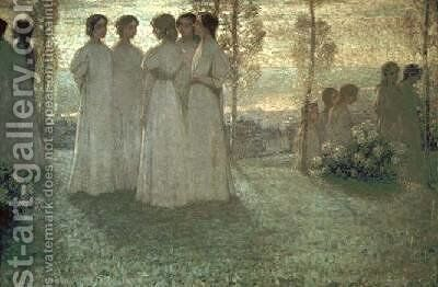 Sunday by Henri Eugene Augustin Le Sidaner - Reproduction Oil Painting
