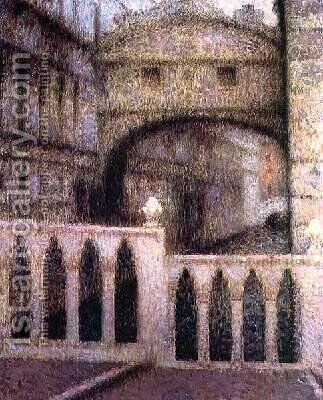 The Bridge of Sighs by Henri Eugene Augustin Le Sidaner - Reproduction Oil Painting