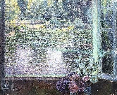 A Window on the River by Henri Eugene Augustin Le Sidaner - Reproduction Oil Painting