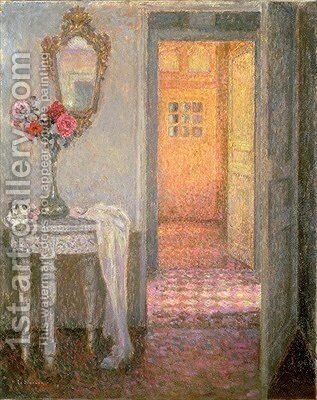 Interior of a Hallway by Henri Eugene Augustin Le Sidaner - Reproduction Oil Painting