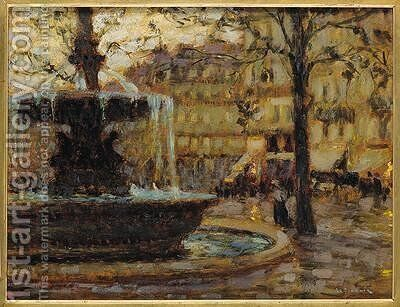 Place du Palais Royal by Henri Eugene Augustin Le Sidaner - Reproduction Oil Painting