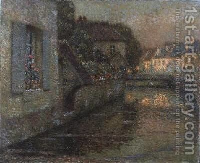 The Bridge at Gisors by Henri Eugene Augustin Le Sidaner - Reproduction Oil Painting