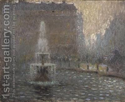 Trafalgar Square by Henri Eugene Augustin Le Sidaner - Reproduction Oil Painting