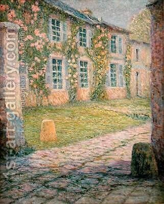 The House with Roses Versailles by Henri Eugene Augustin Le Sidaner - Reproduction Oil Painting