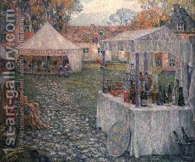 The Booths by Henri Eugene Augustin Le Sidaner - Reproduction Oil Painting